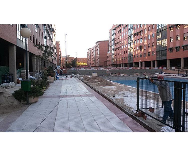 Pavimentos de zona comunitaria