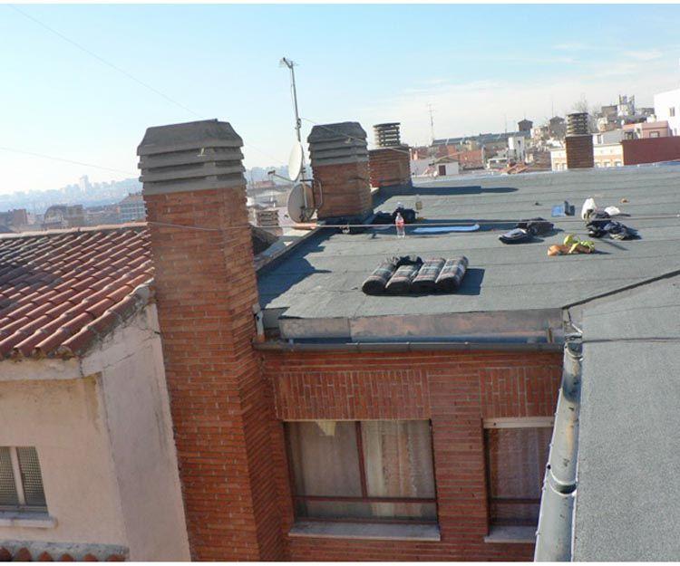 Trabajos de impermeabilización de tejados