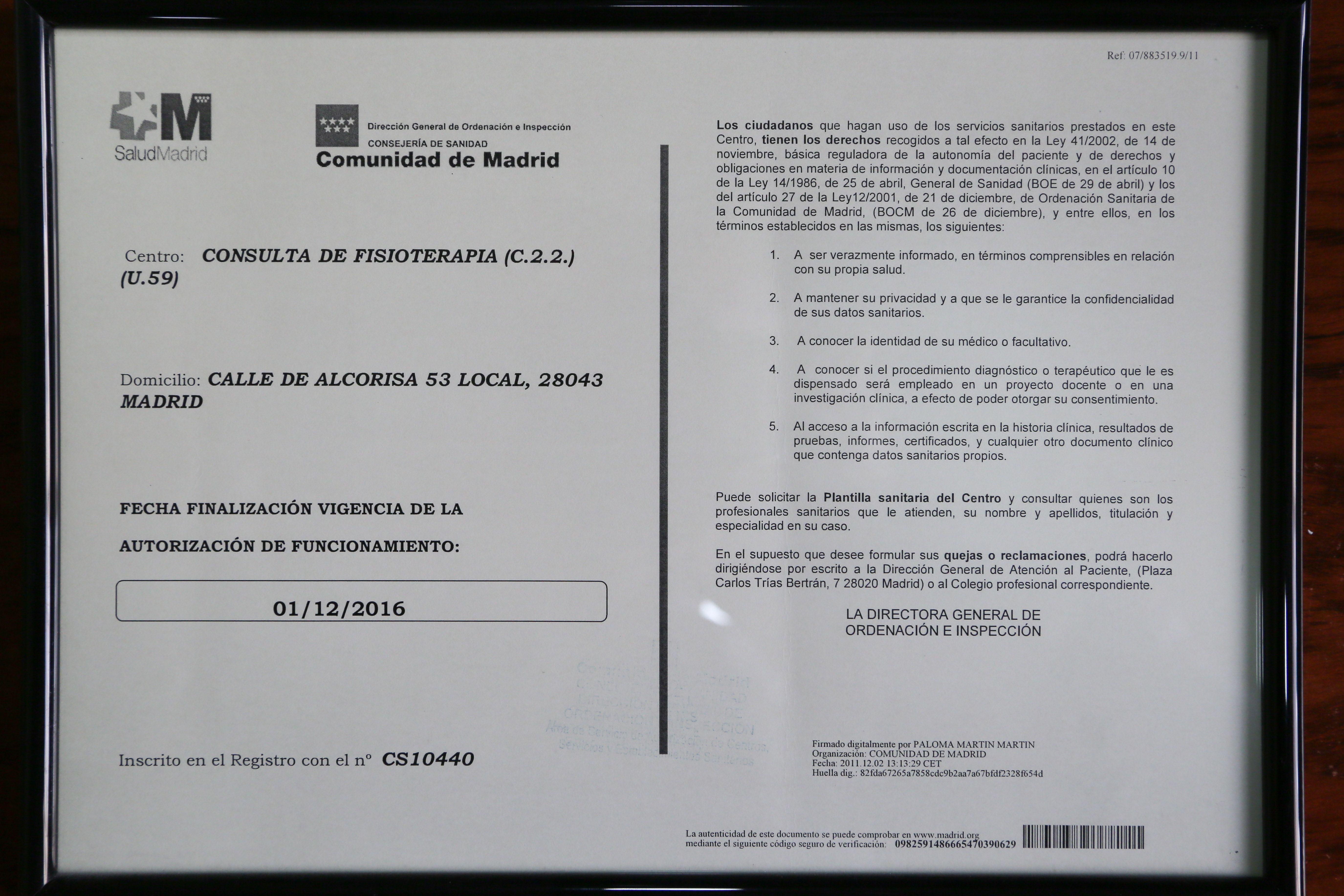 Foto 15 de Fisioterapia en Madrid | Ansón Manuel