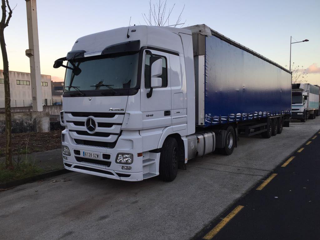 Transporte de mercancías en Galicia, Navarra, Zaragoza, Barcelona y Madrid