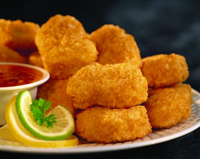 Nuggets de pollo empanado serie lujo