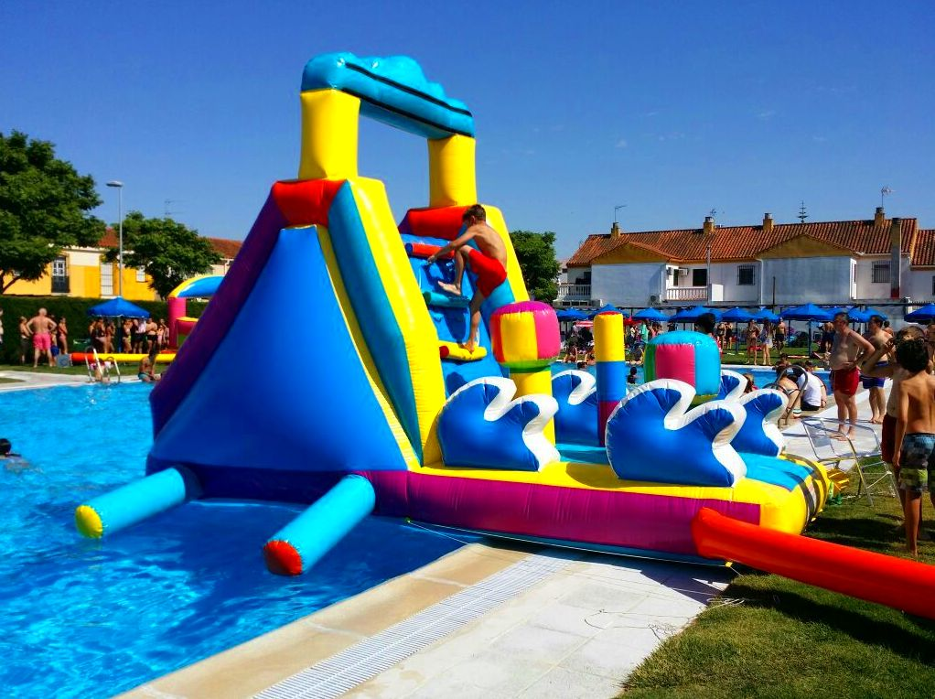 Tobog n acu tico para piscinas cat logo de hinchables happy jump - Tobogan hinchable para piscina ...