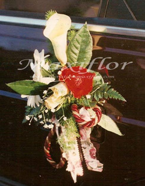 Flores para coches de boda