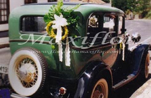 Decoración de coches para bodas