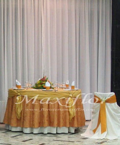 Flores para banquetes de bodas en Tenerife