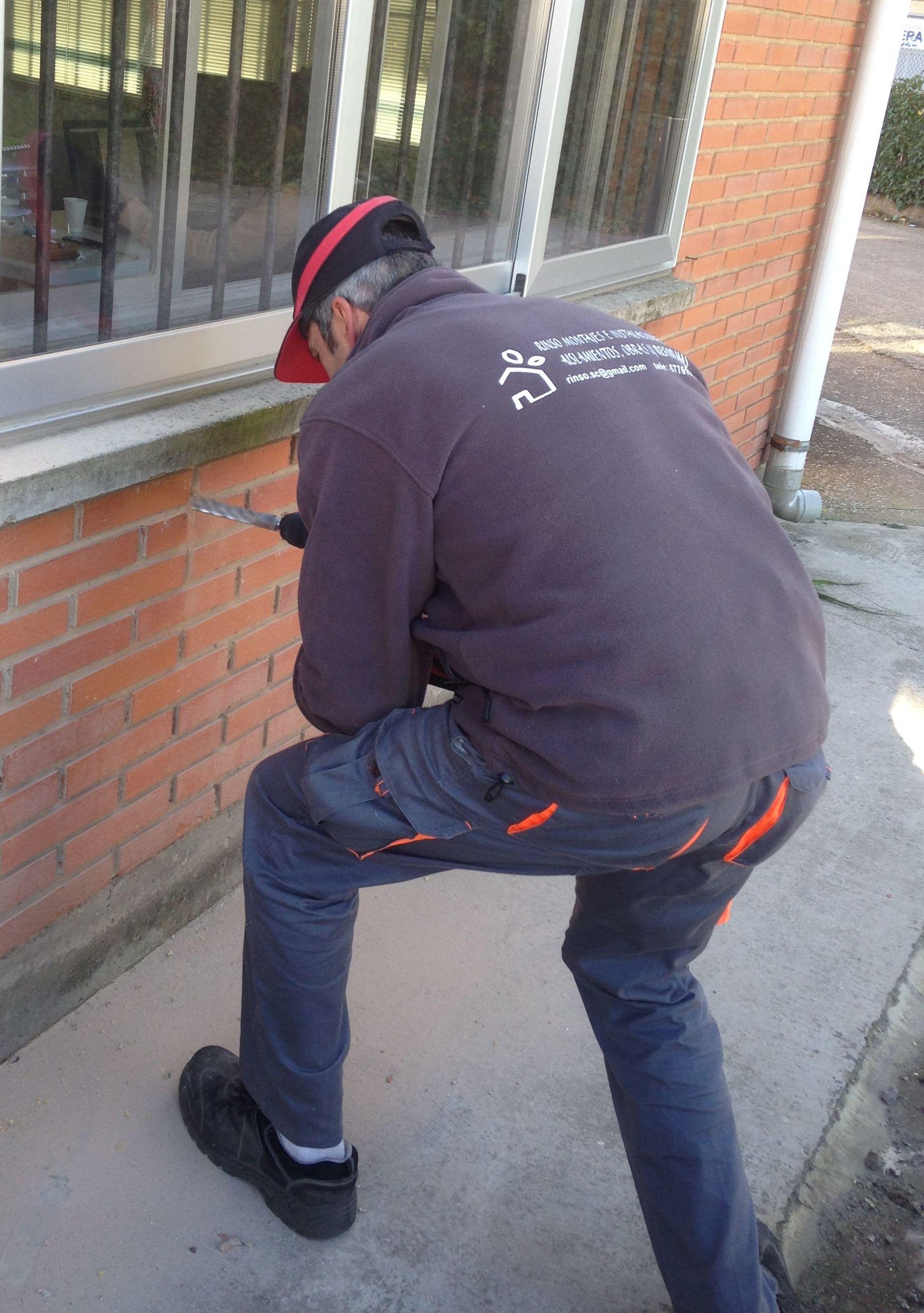 Preparación de insuflado por el exterior