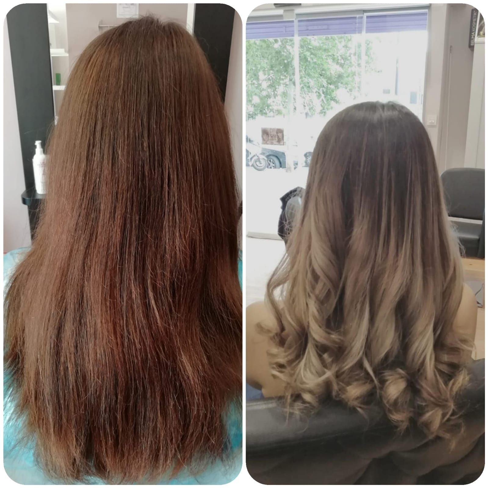 Mechas californianas para un color rubio degradado que parece natural