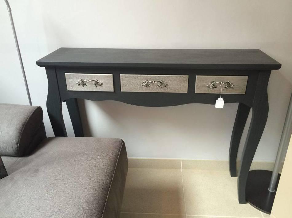 Mueble auxiliar color negro