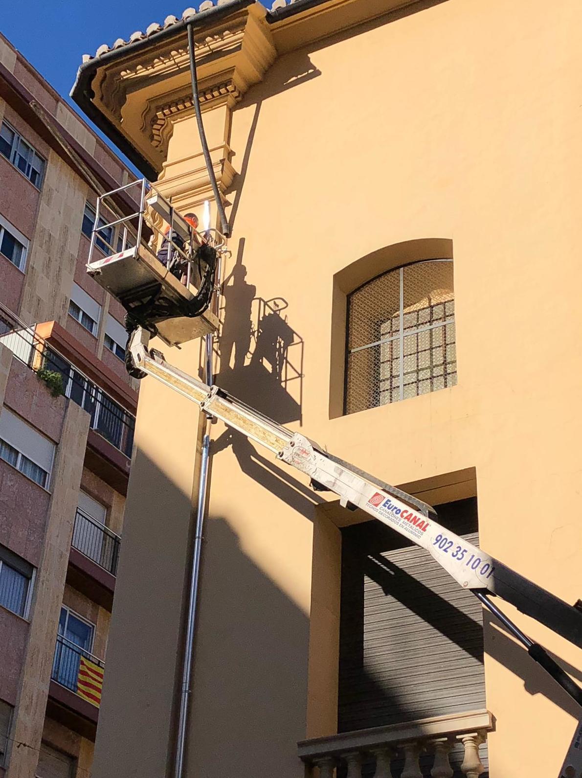Instalación en Zinc en el Ayuntamiento de Valencia