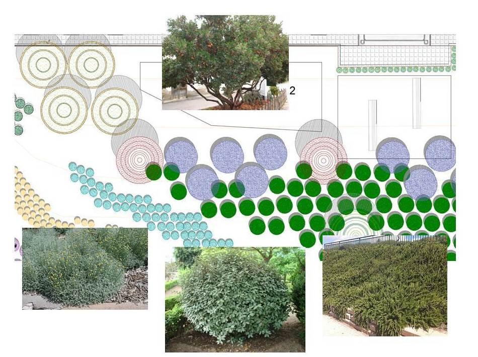 Jardín en talud