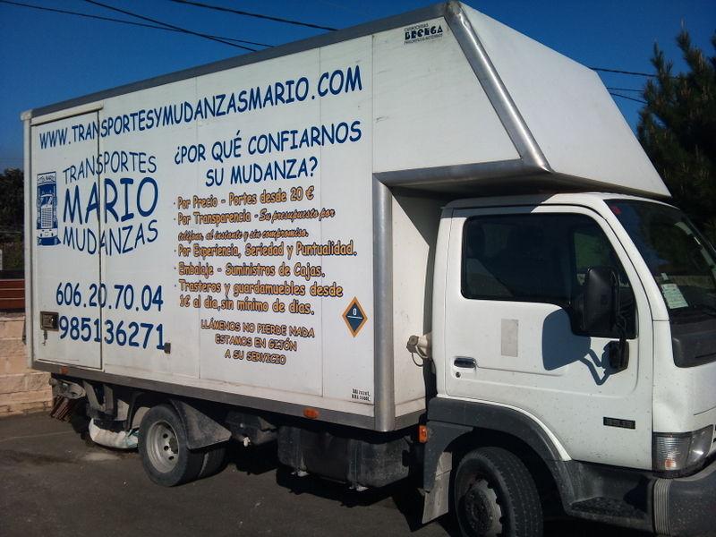 Foto 1 de Mudanzas y guardamuebles en Gijón | Transportes y Mudanzas Mario