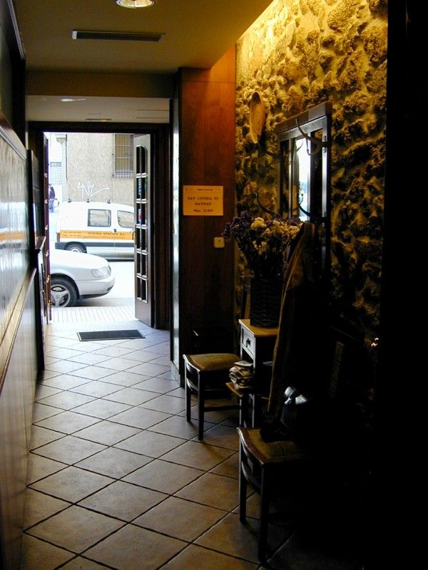 Entrada al restaurante en A Coruña