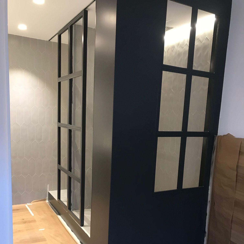 Cabina de ducha despues de pintar