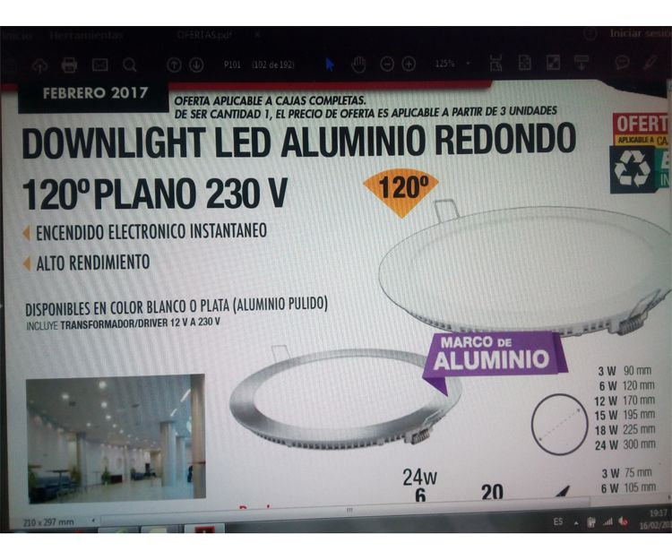 Downlight Led de aluminio redondo