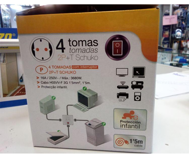 Cubos multibases con USB y protección sobre cargas