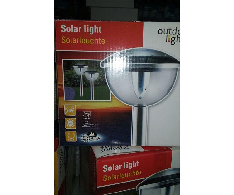 Luz solar para exteriores