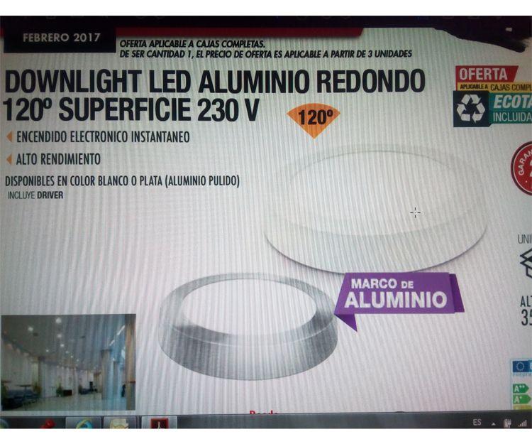 Downlight Led de aluminio redondo