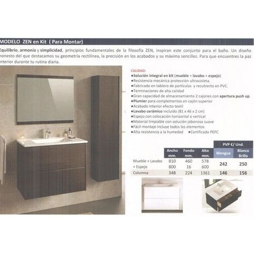 Modelo Zen - Modelo Luna : Materiales de construcción de F. Campanero Materiales Construcción, S.L.
