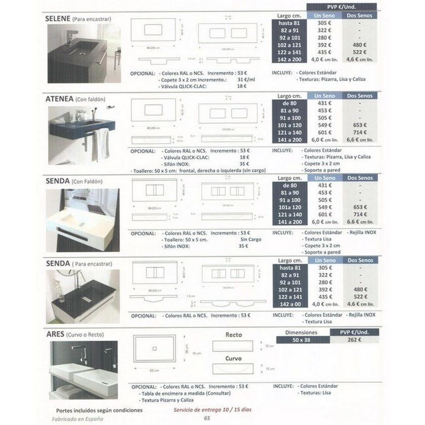 Lavabos y encimeras: Materiales de construcción de F. Campanero Materiales Construcción, S.L.
