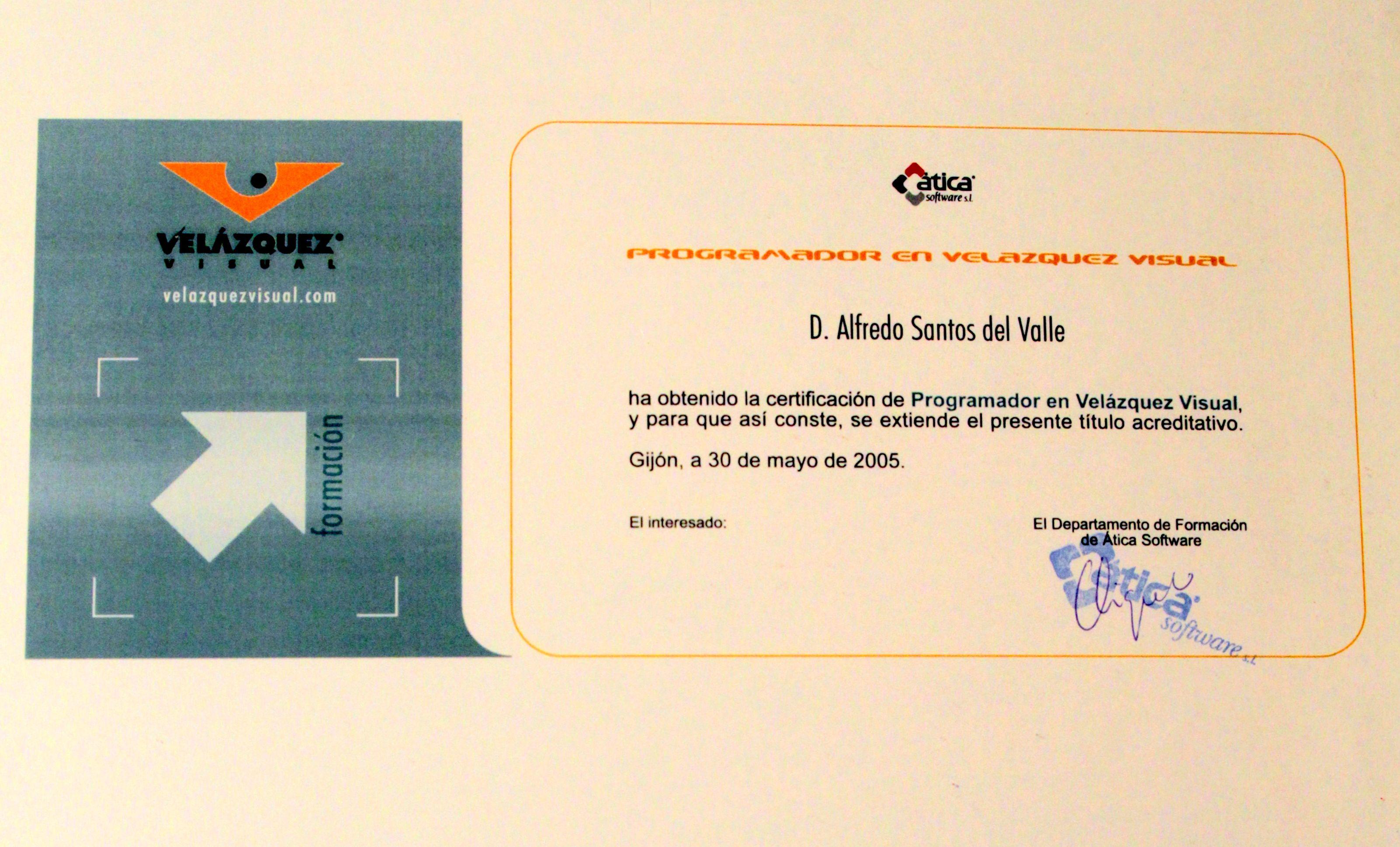Certificado de formación