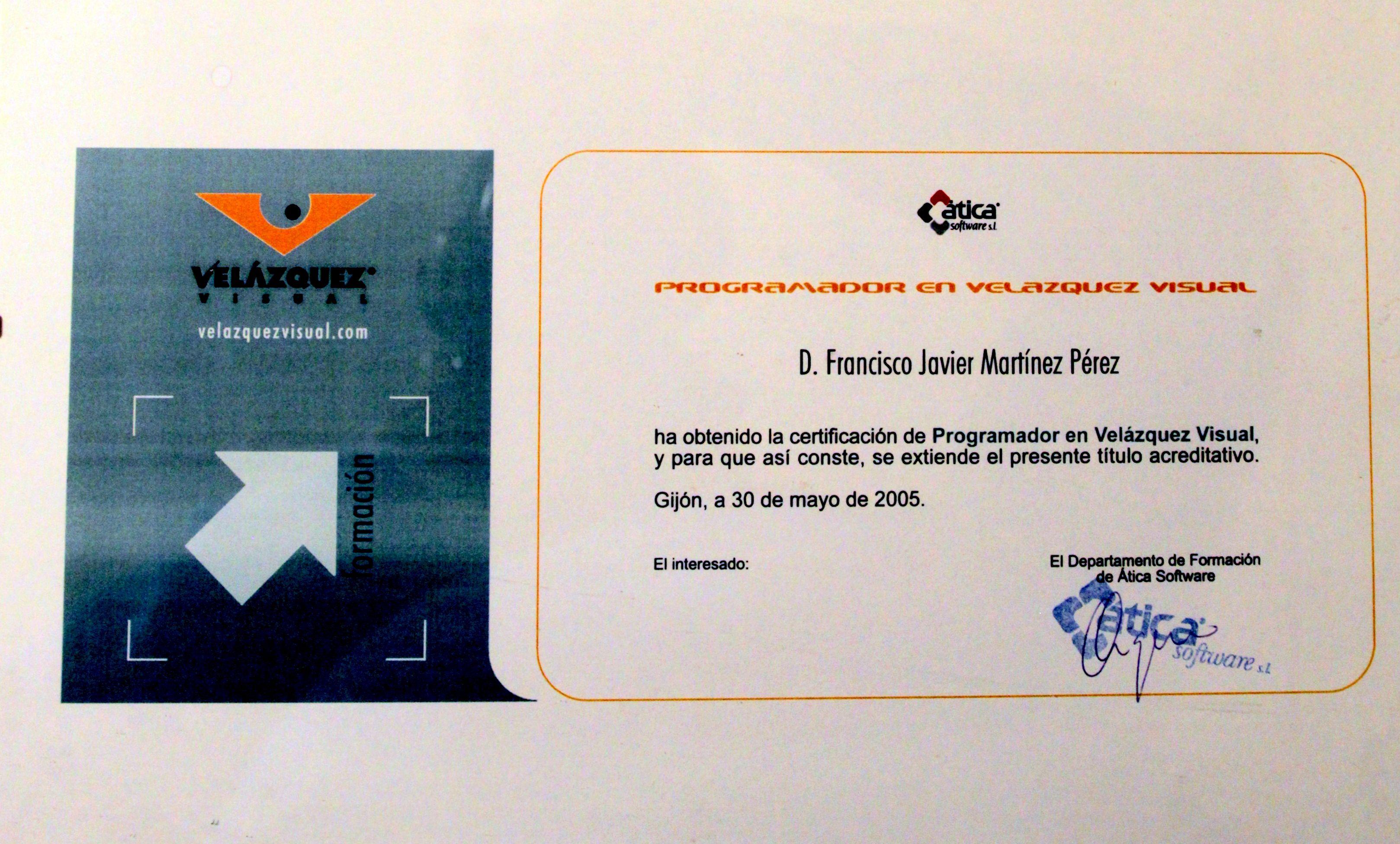 Certificado de programador