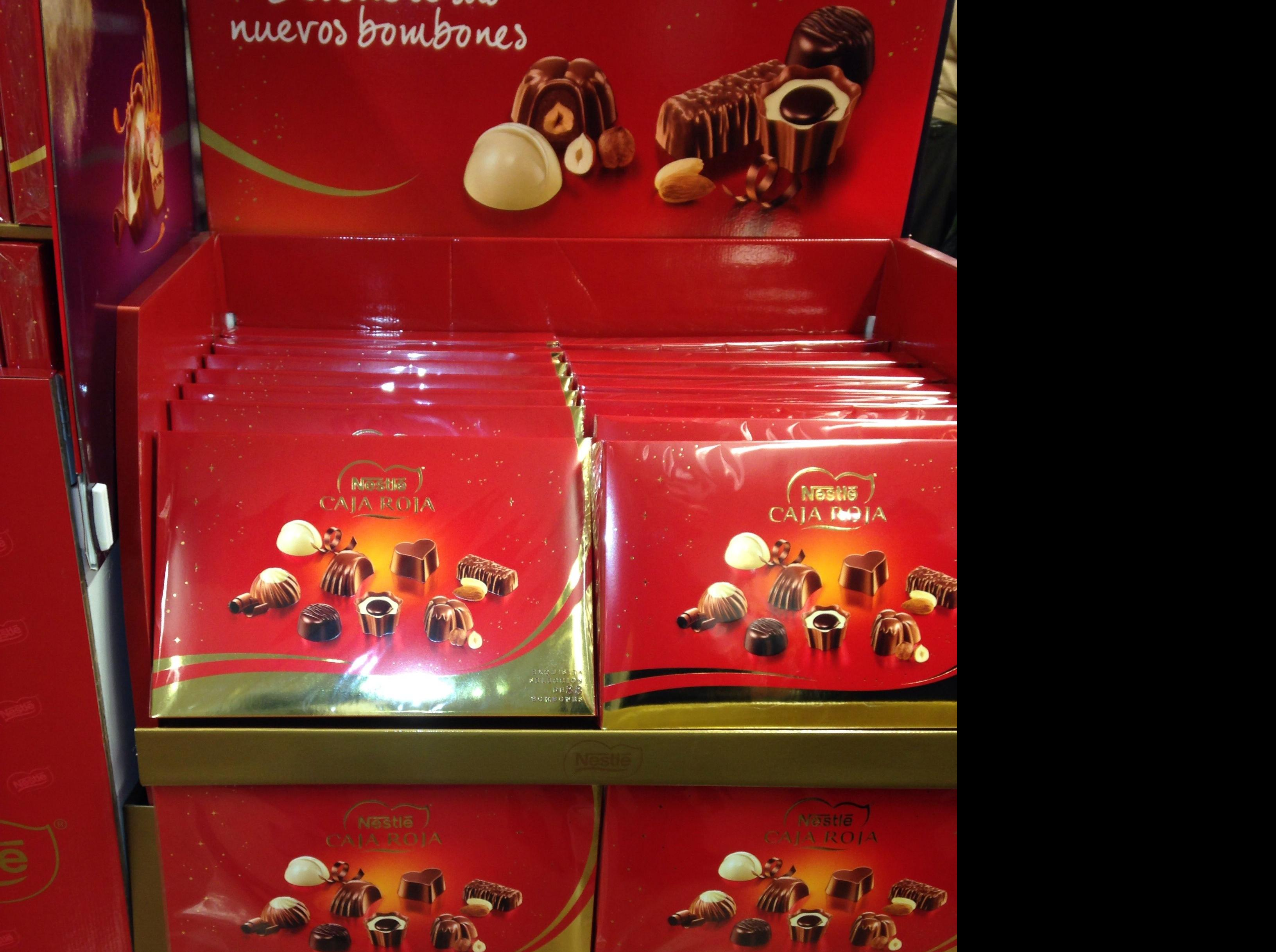 Caja roja de Nestlé