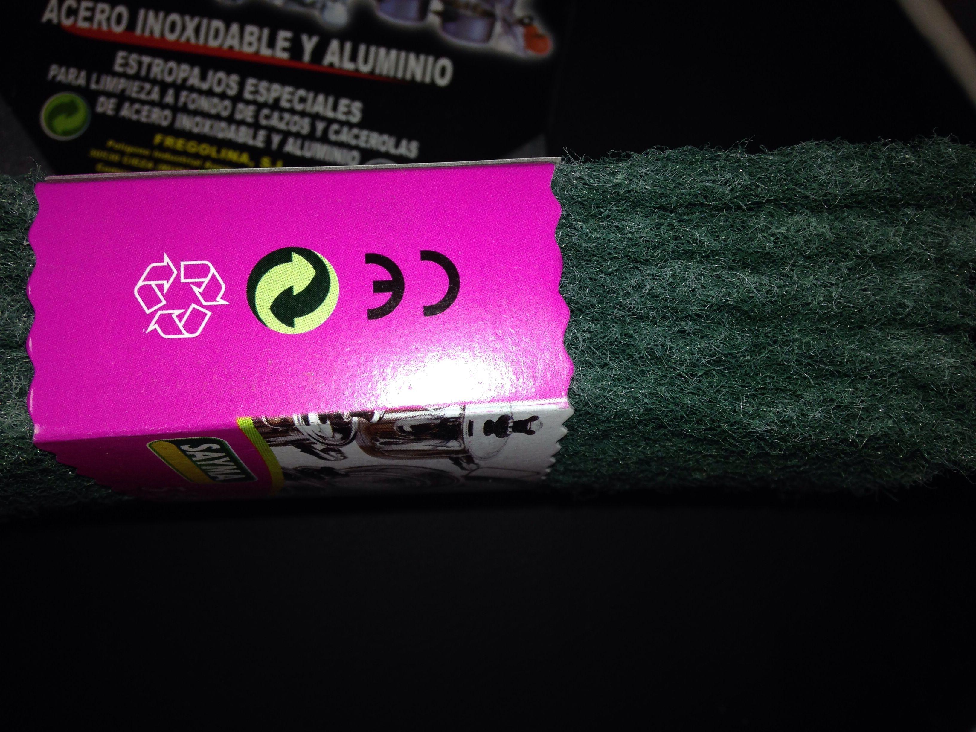 Estropajo cinco fibras verde