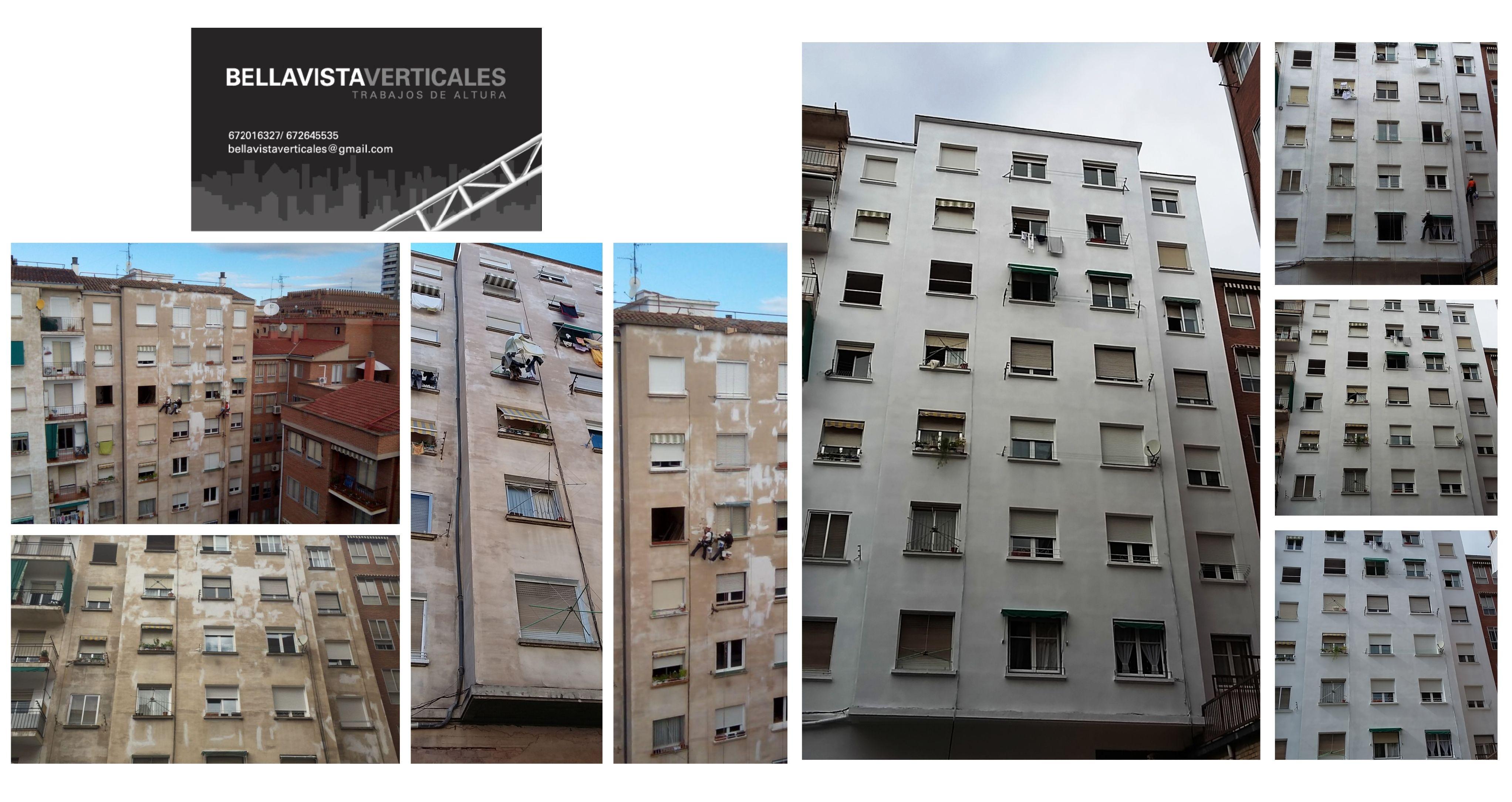 Limpieza y pintura de fachadas. Devolvemos al inmueble su aspecto original