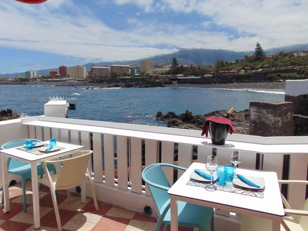 Restaurante junto al mar en Tenerife