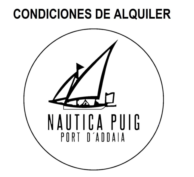 CONDICIONES DE ALQUILER:  de Náutica Puig