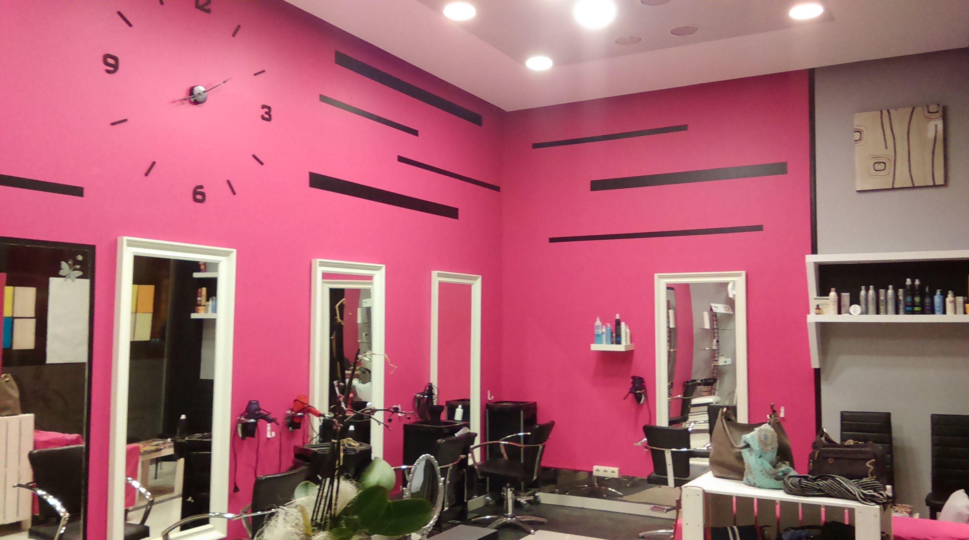 Pintura y decoración de una peluquería