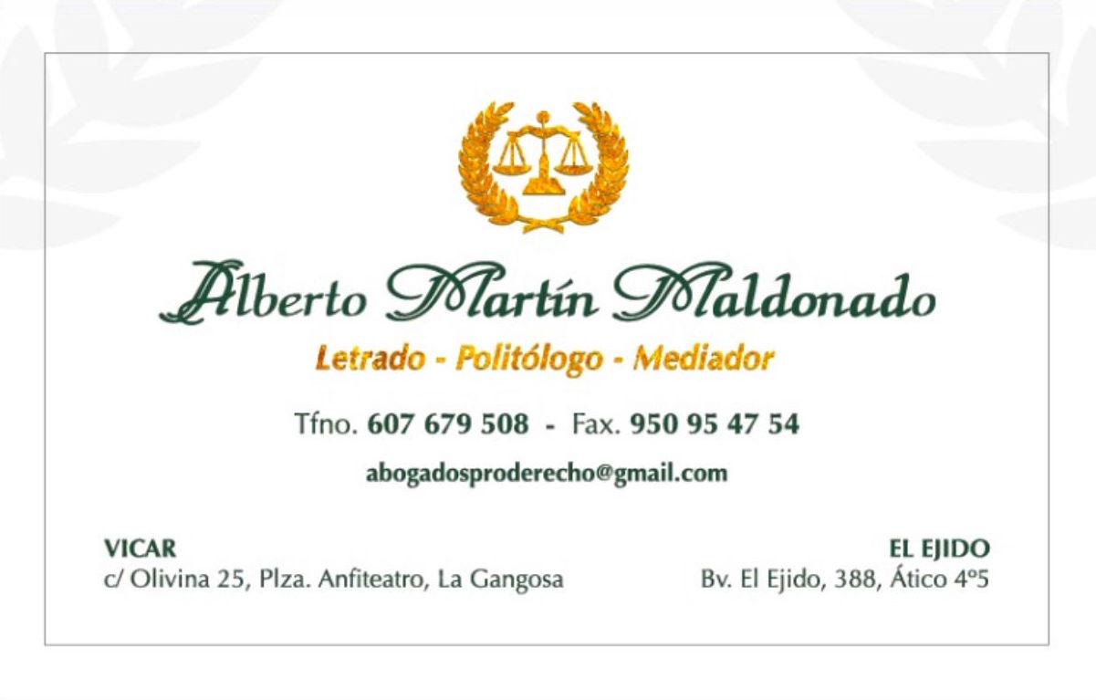 Foto 8 de Abogados en Vicar | Abogados Pro Derecho- Lic. Alberto Martín Maldonado