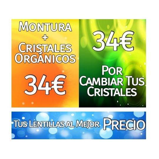 Montura + cristales orgánicos 34€
