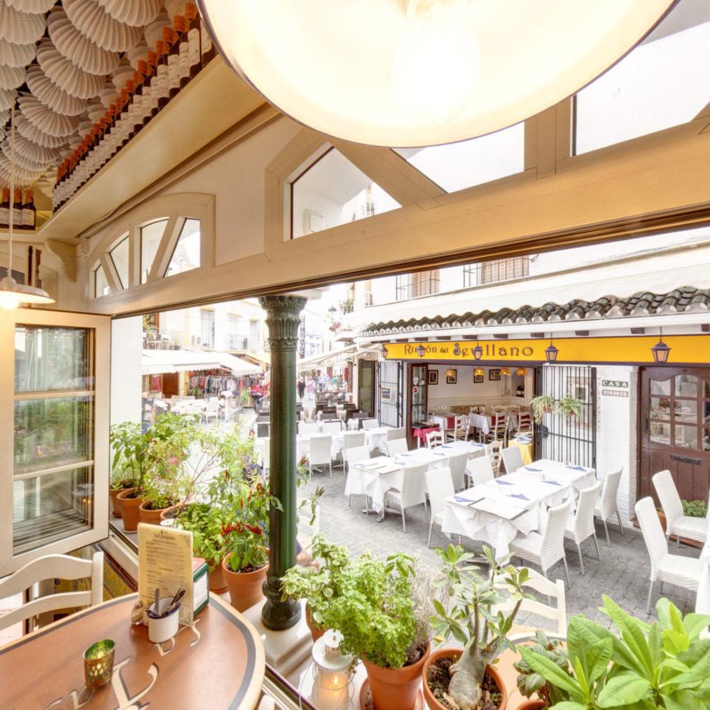 Terrace in the restaurant