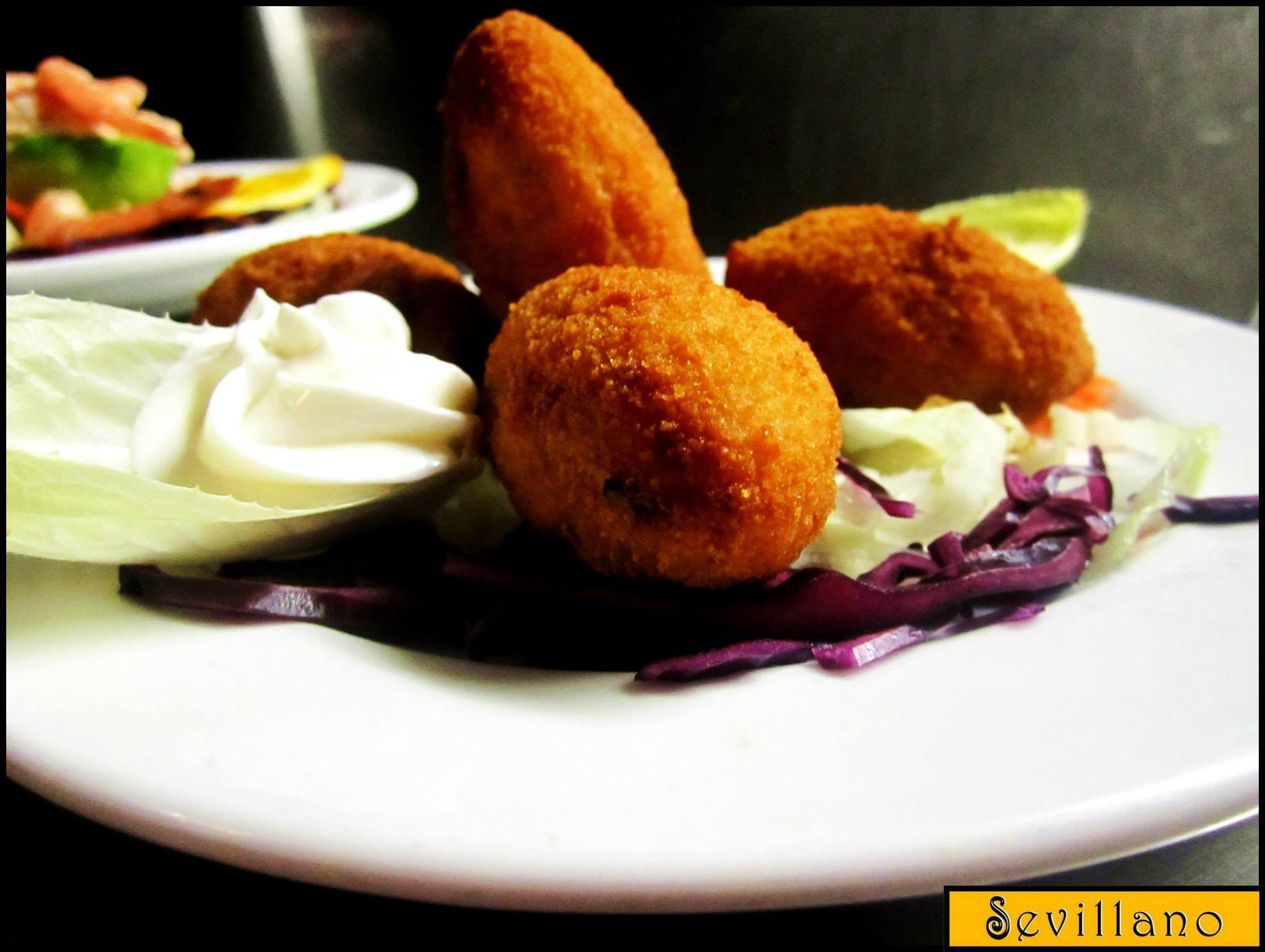 Delicious croquettes filled with ham