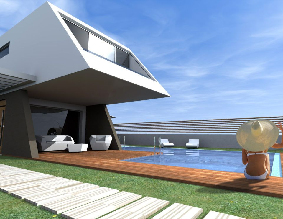 Moderna Casa de Diseño en Playa de Melenara: Proyectos en venta de Díaz y Muñoz Arquitectos