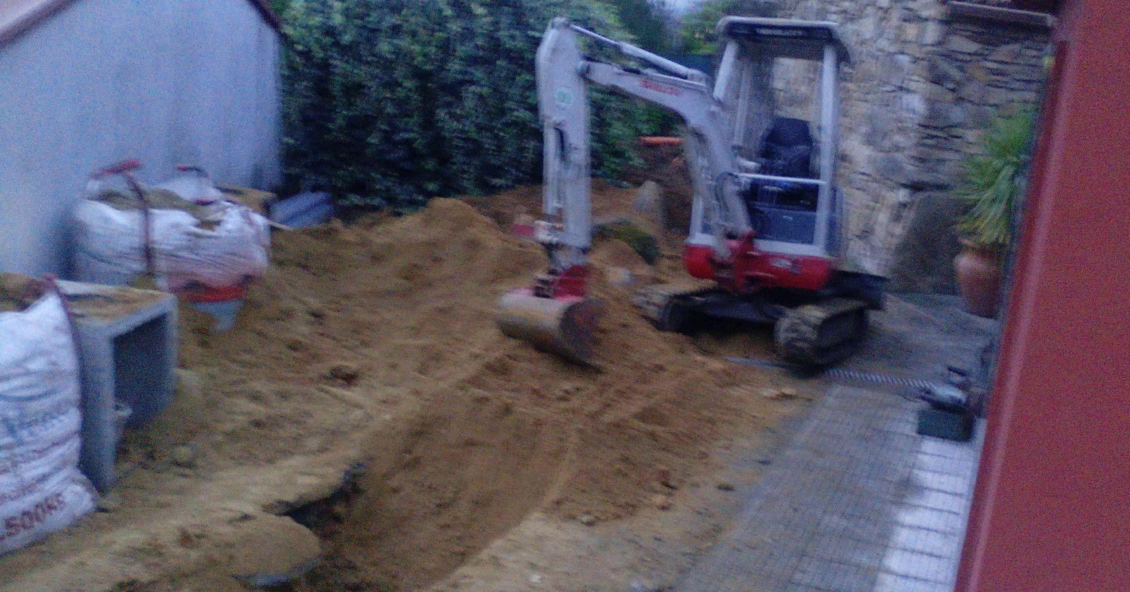 Excabacion de saneamiento