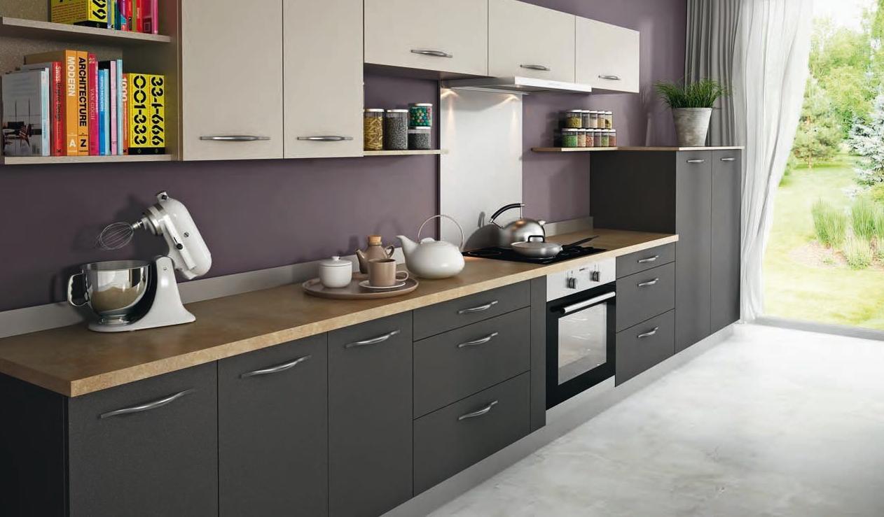 Cocina antracita servicios y productos de instal lacions - Encimeras alvic ...