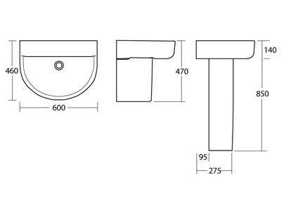 Colecciones de ba o ideal standard linea connect lavabo for Jacuzzi para dos personas medidas