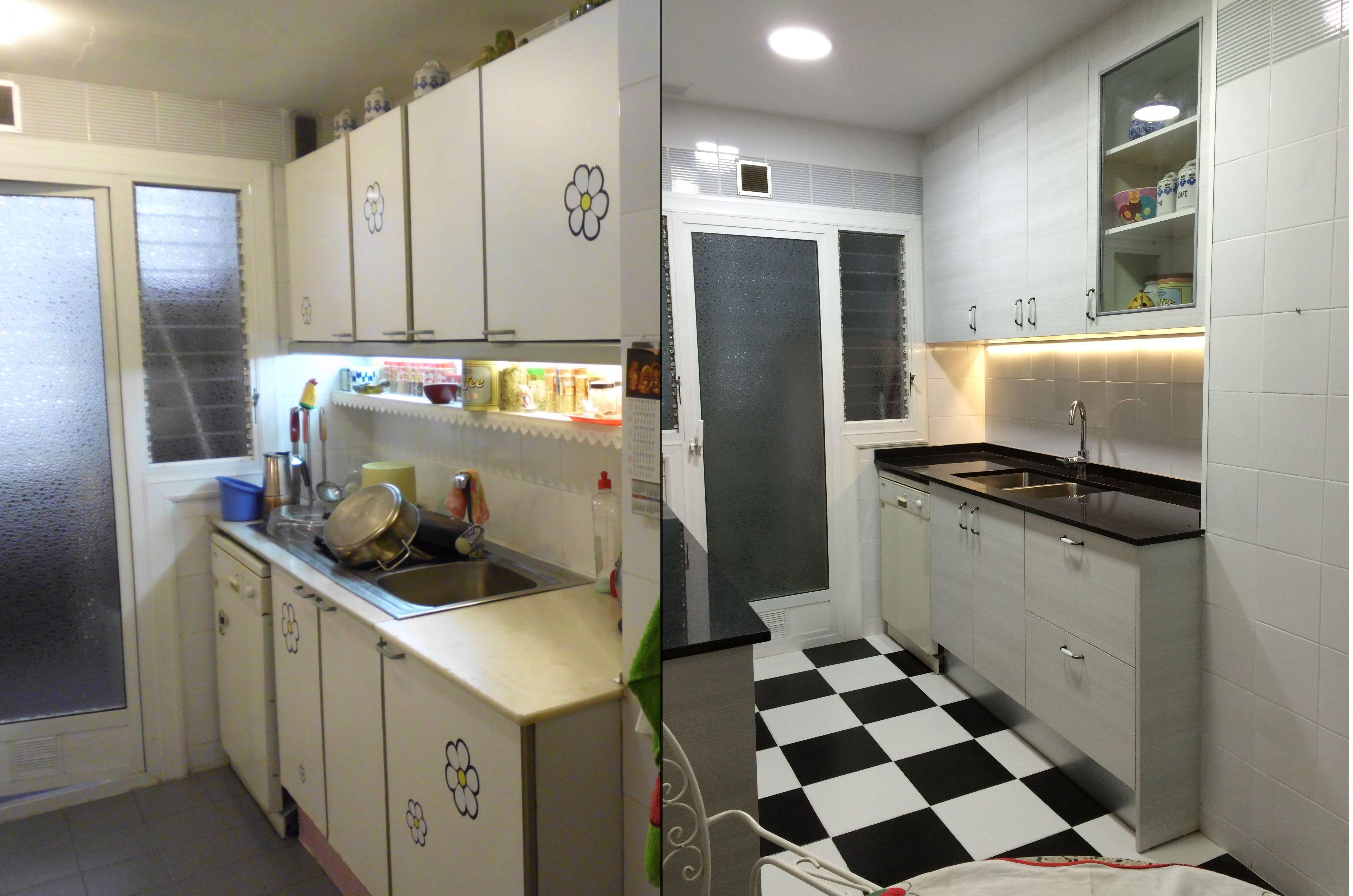 Ltima reforma de cocina - Pintar muebles de cocina antes y despues ...