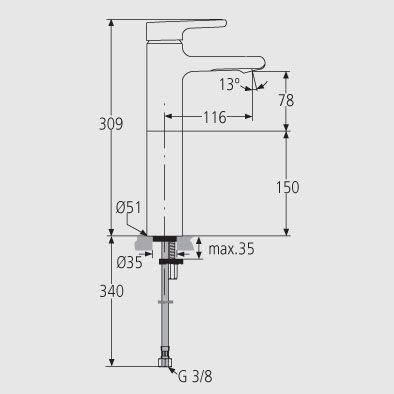 Grifos ideal standard linea attitude monomando lavabo dise o servicios y productos de - Grifos de lavabo de diseno ...