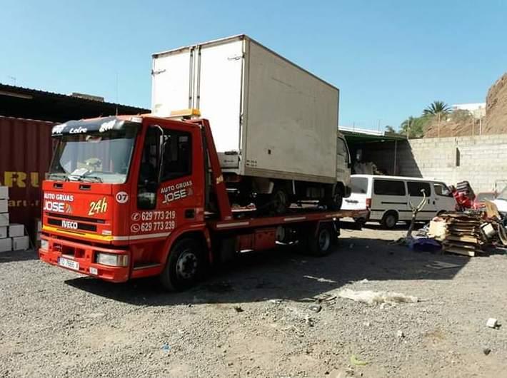 Gruas para camionetas Tenerife