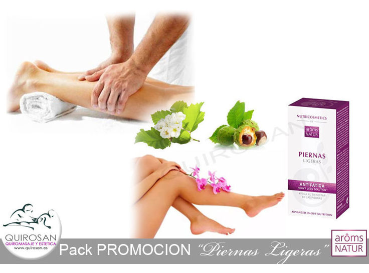 """Pack PROMOCION """"Liberate de las piernas cansadas"""" por solo 39€: Servicios de Quirosan"""