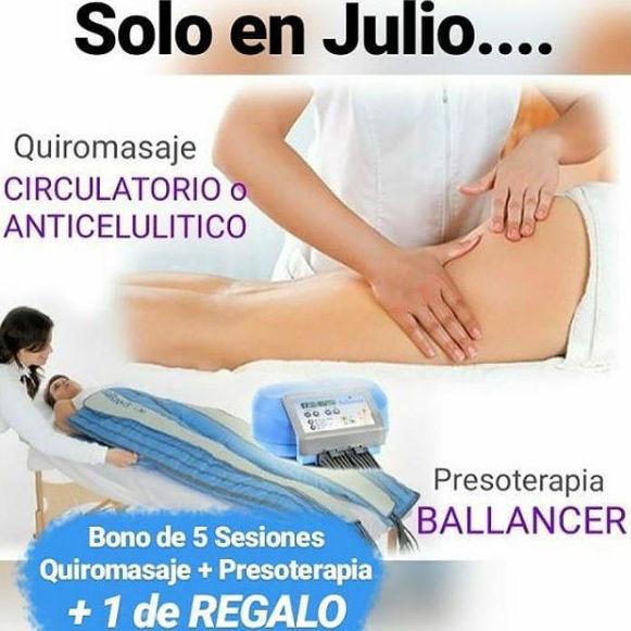 JULIO - Bono de 5 Sesiones + 1 de REGALO: Servicios de Quirosan