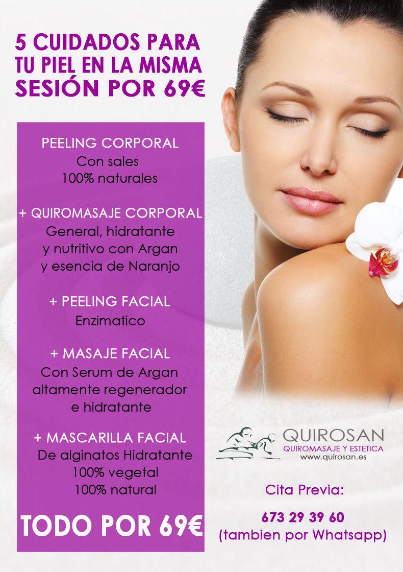 5 Cuidados para tu piel en la misma sesión por 69€: Servicios de Quirosan