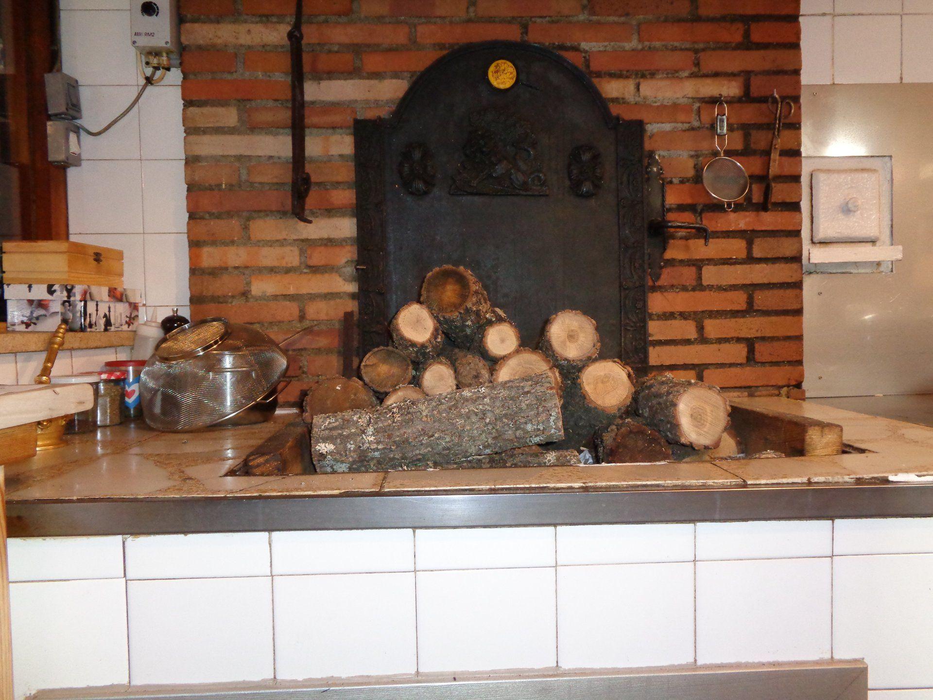 Carne asada en horno de leña en Riaza