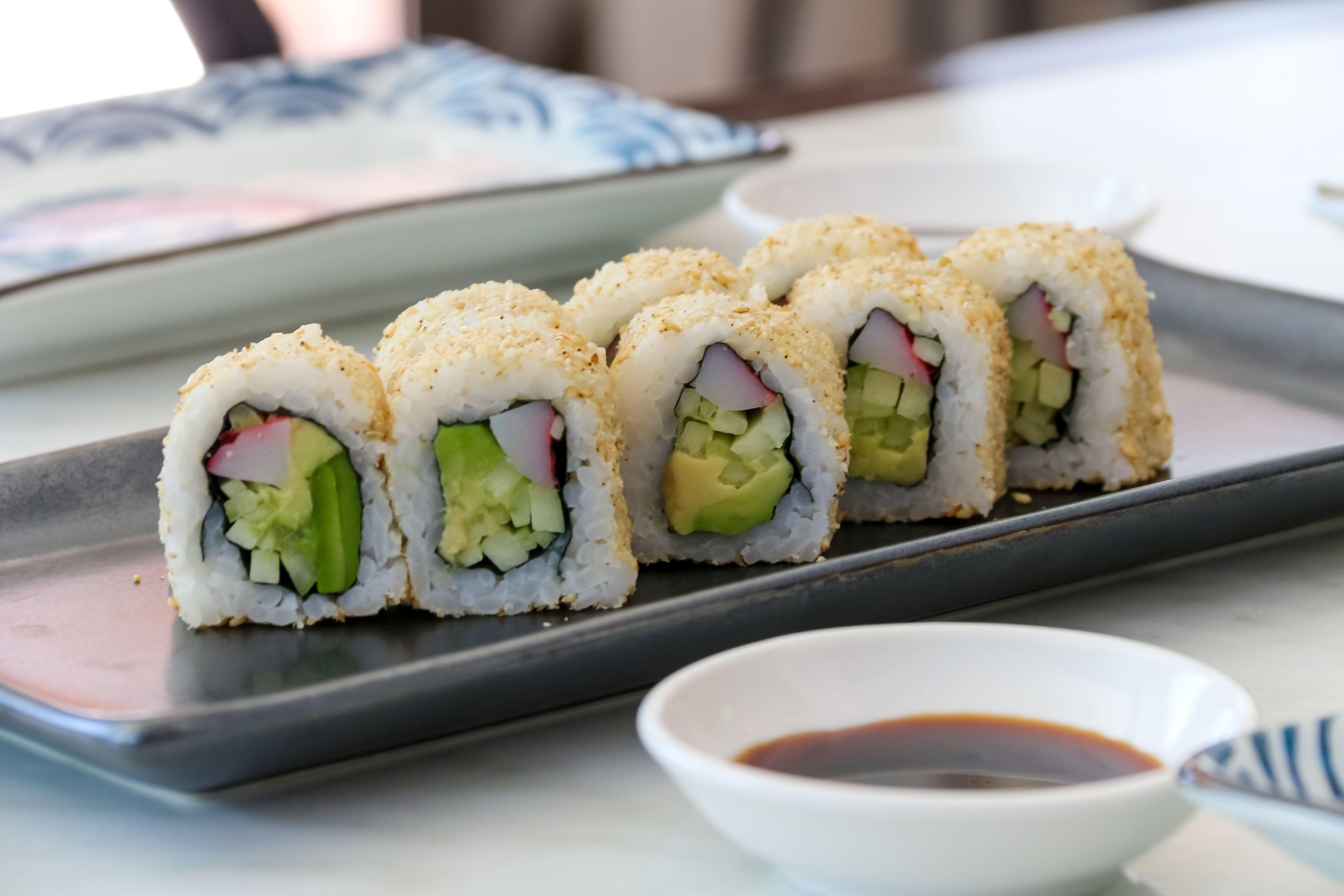 Sushi rolls en Madrid