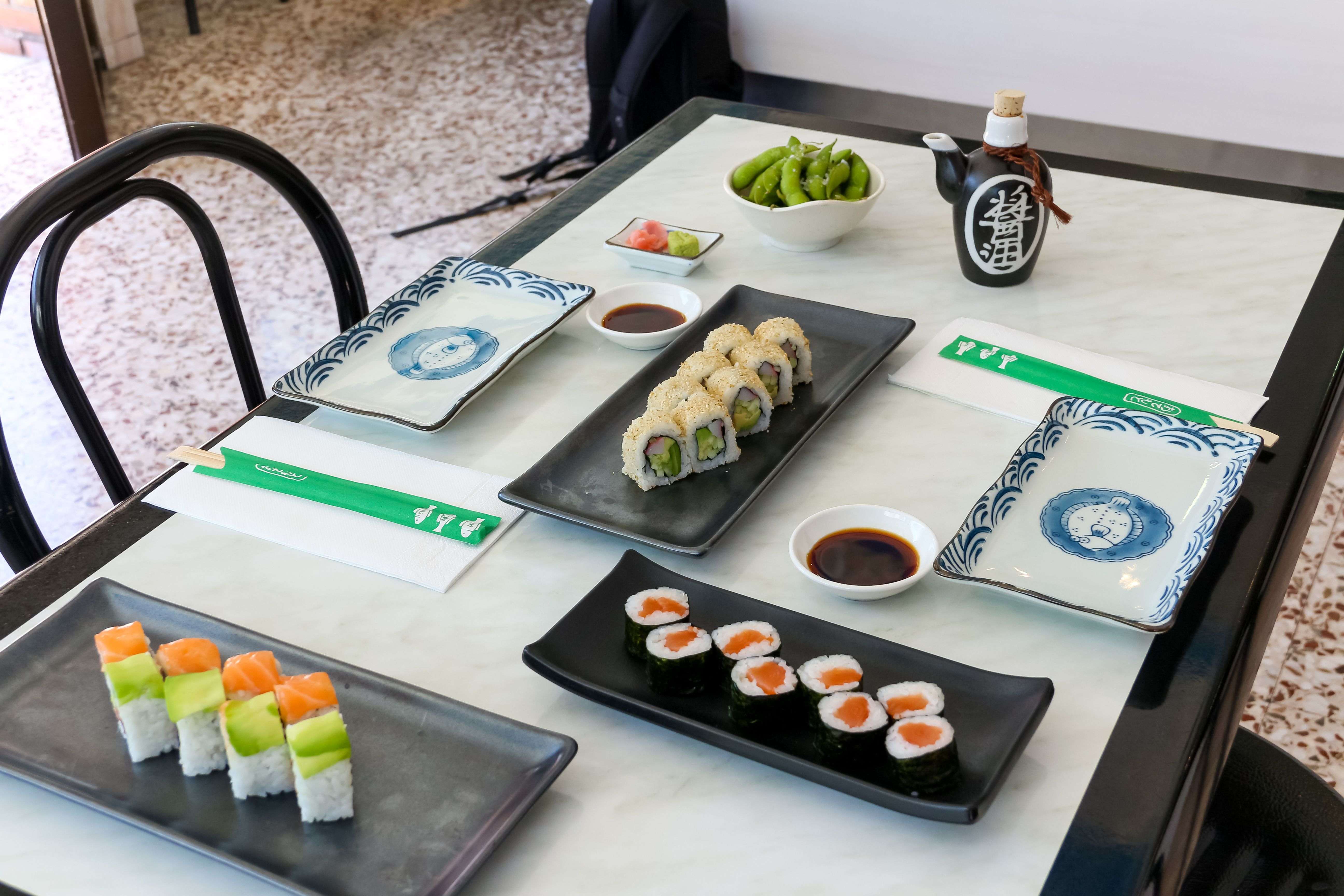 Bandejas de sushi en Madrid