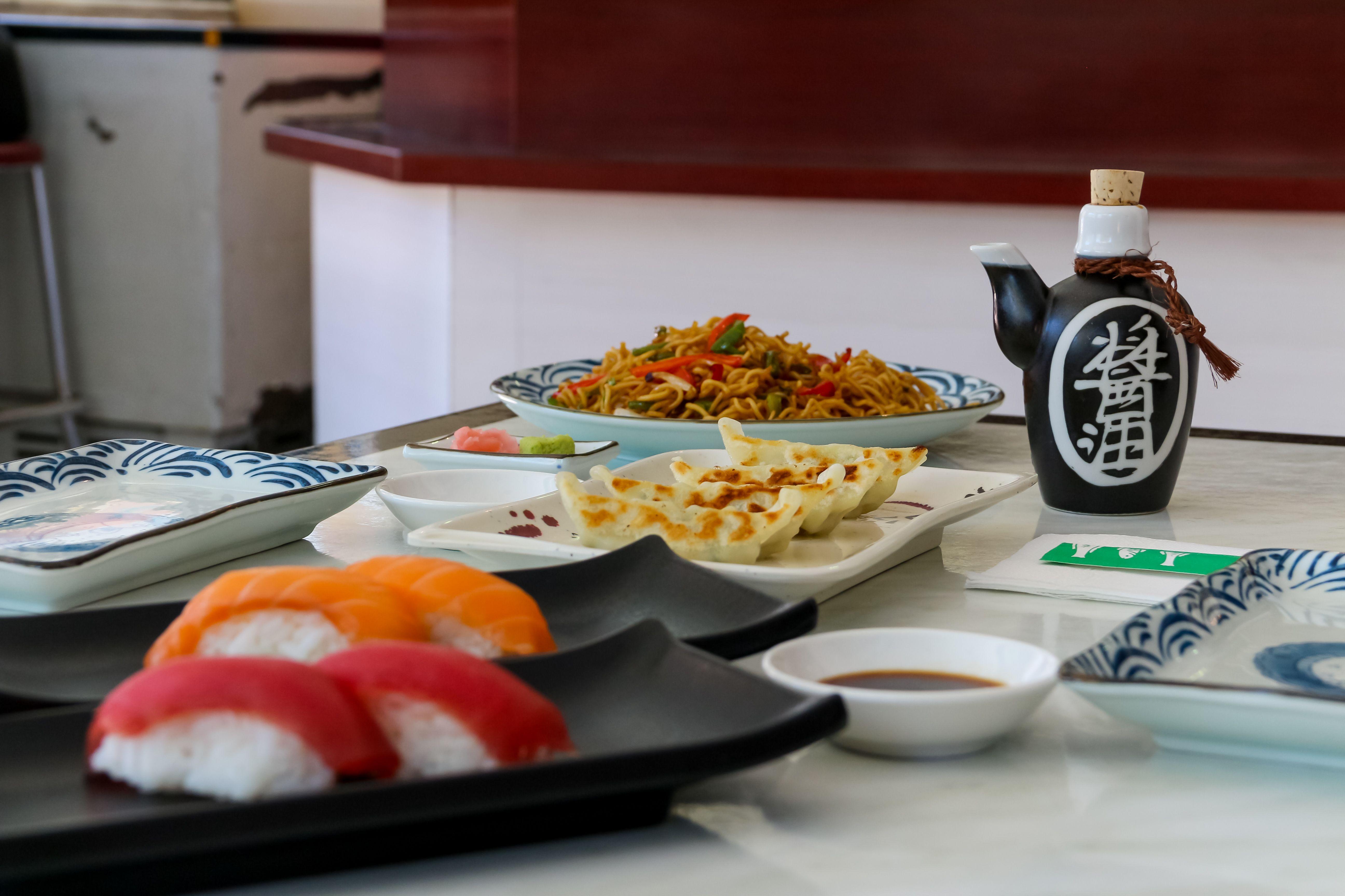 Menú de mediodía japonés en Madrid