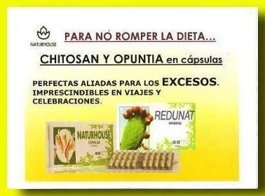 ¡¡OPUNTIA o CHITOSAN, tus ALIADOS para los EXCESOS!!